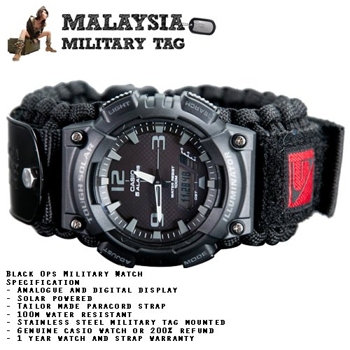 Paracord military watch