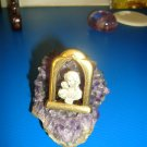 Amethyst - with Mother Mary and Child