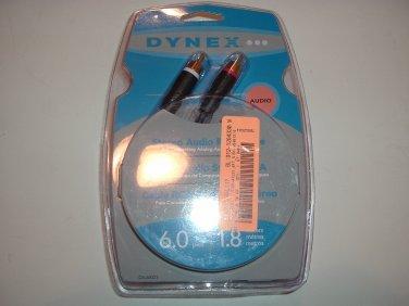 Dynex DX-AV221 6 ft Stereo Audio RCA Cable