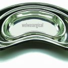 """3 Pcs Kidney Tray Set 6""""+8""""+10"""" (Small+Medium+Large) Stainless Steel Instruments"""