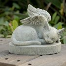 Cat Angel Pet Memorial Stone Grave Marker Headstone