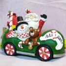Santa Snowman & Friends Christmas Candy Car Tabletop Decor