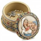 Ava Marie Madonna Child Rosary Box Ornate Trinket Jewelry Holder