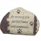 In Memory Faithful Friend Pet Paws Memorial Garden Stone