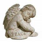 Peace Resting Angel Sitting Cherub Garden Statue - Grassland Roads