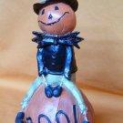 Boo Pumpkin Man Figurine Halloween Fall Tabletop Decor
