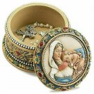 Ava Marie Madonna and Child Catholic Rosary Box Ornate Jewelry Holder