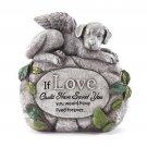 Dog Angel on Rock Pet Memorial Remembrance Marker