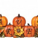 Harvest Pine Cone Kids Fall Tabletop Pumpkin Decor - Adorable!