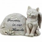 Cat Kitten Angel Forever In Our Hearts Small Memorial Stone