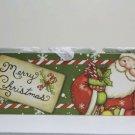 Wood Block Santa Votive Candle Holder Colorful Merry Christmas! Decor
