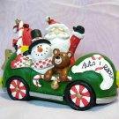 Santa Car Snowman & Friends Christmas Candy Car Tabletop Decor