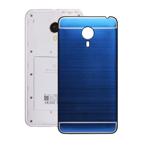 Brushed Texture Back Cover Replacement for Meizu MX4(Dark Blue)
