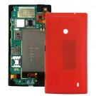 Plastic Back Housing Cover Replacement for Nokia Lumia 520(Red)