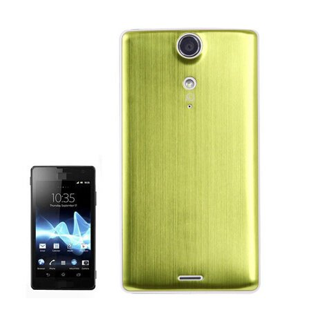 Metal Brushed Style Plastic Replacement Battery Cover for Sony Xperia TX / LT29i (Light Green)
