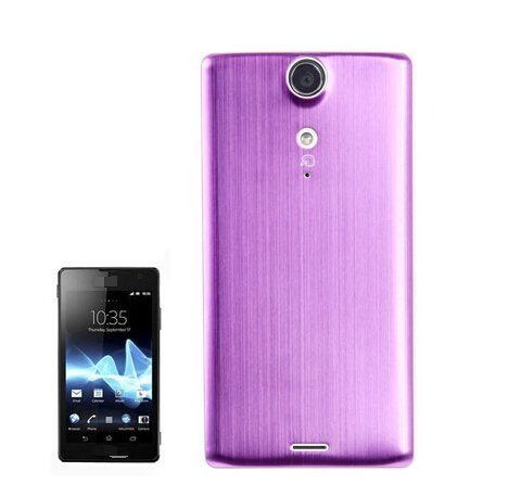 Metal Brushed Style Plastic Replacement Battery Cover for Sony Xperia TX / LT29i(Purple)