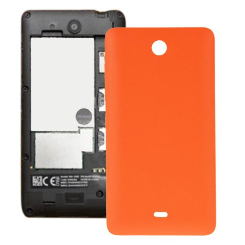 Frosted Surface Plastic Back Housing Cover Replacement for Microsoft Lumia 430(Orange)