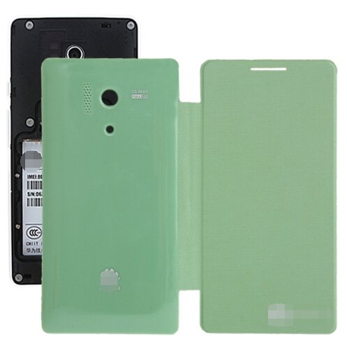 Cloth Texture Horizontal Flip Back Cover / Replacement Leather Case for Huawei Honor 3 (Green)