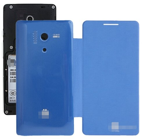 Cloth Texture Horizontal Flip Back Cover / Replacement Leather Case for Huawei Honor 3 (Blue)
