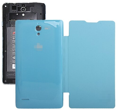 Horizontal Flip Back Cover / Replacement Leather Case for Huawei G700 (Blue)