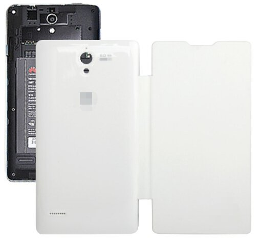 Horizontal Flip Back Cover / Replacement Leather Case for Huawei G700 (White)