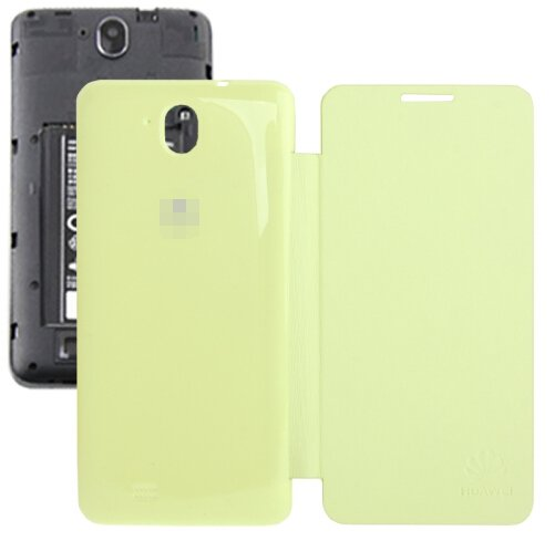 Horizontal Flip Back Cover / Replacement Leather Case for Huawei G606 (Light Yellow)