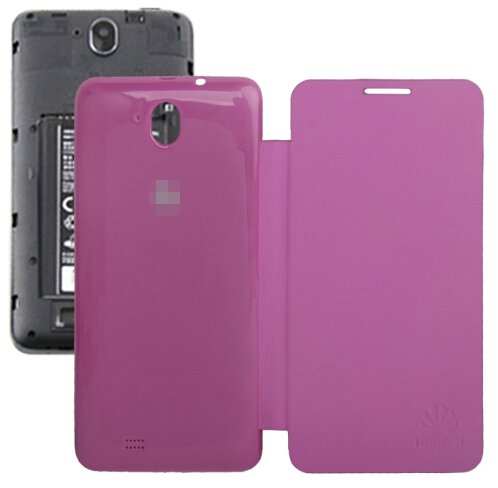 Horizontal Flip Back Cover / Replacement Leather Case for Huawei G606 (Magenta)