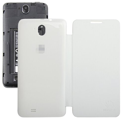 Horizontal Flip Back Cover / Replacement Leather Case for Huawei G606 (White)