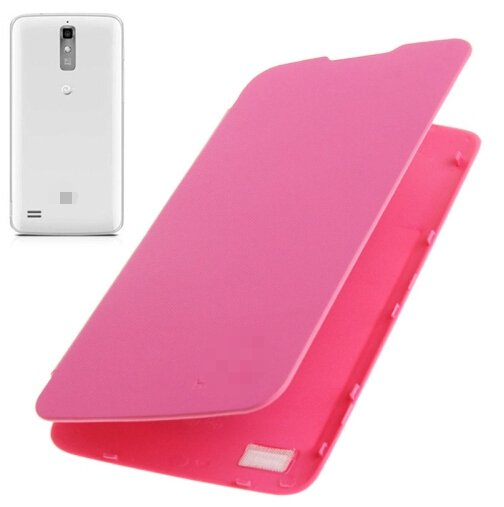 Flip Back Cover / Replacement Leather Case for Huawei Ascend G710 / A199 (Magenta)