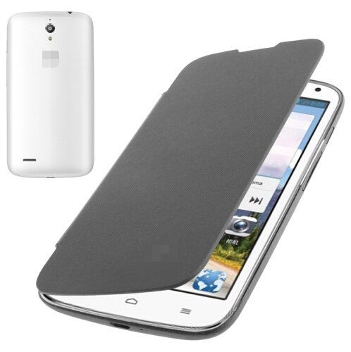 Flip Back Cover / Replacement Leather Case for Huawei Ascend G610 (Dark Grey)