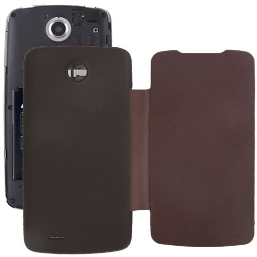 Brushed Texture Horizontal Flip Back Cover / Replacement Leather Case for Lenovo A630T (Brown)