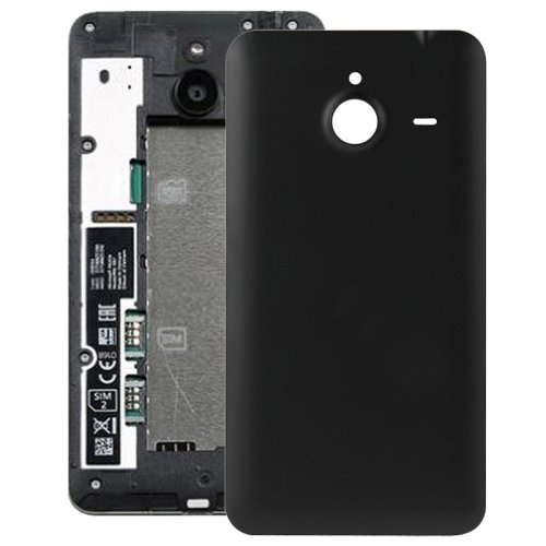 Frosted Surface Plastic Back Housing Cover Replacement for Microsoft Lumia 640XL(Black)