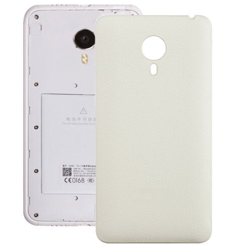 Litchi Texture Leather Paste Skin Back Cover Replacement for Meizu MX 4(White)