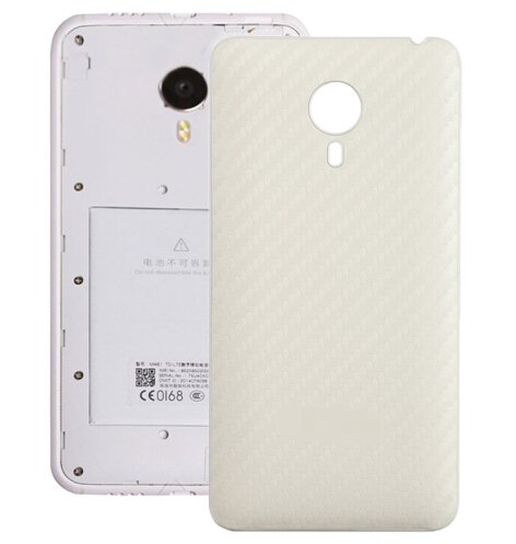 Carbon Fiber Texture Back Cover Replacement for Meizu MX 4(White)