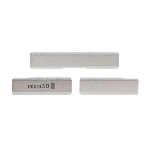 SIM Card Cap USB Data Charging Port Micro SD Card Cap Dustproof Block for Sony Xperia Z1 White