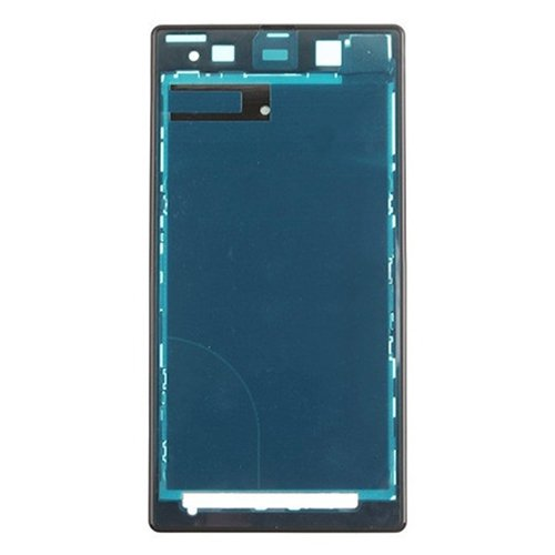 Front Housing LCD Frame Bezel Plate Replacement for Sony Xperia Z1 / C6902(Black)
