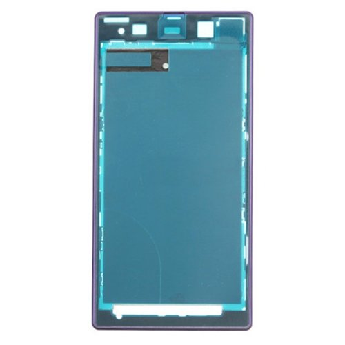 Front Housing LCD Frame Bezel Plate Replacement for Sony Xperia Z1 / C6902(Purple)