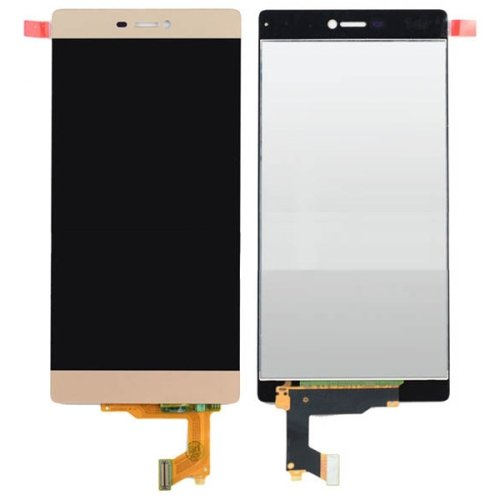 LCD Screen + Touch Screen Digitizer Assembly for Huawei P8(Gold)