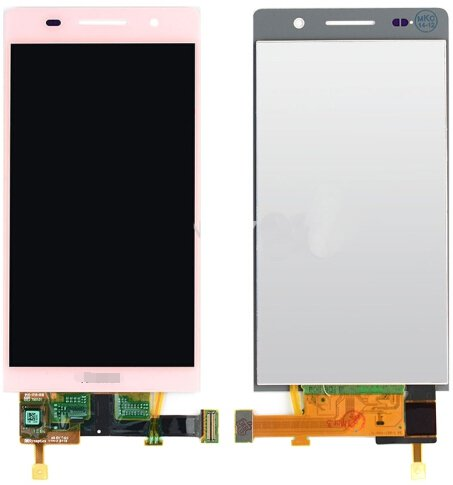 LCD Screen + Touch Screen Digitizer Assembly for Huawei Ascend P6(Pink)