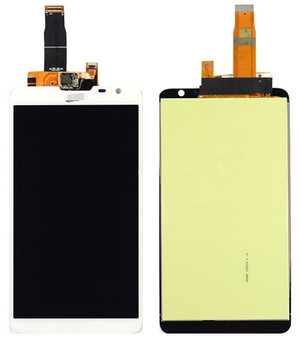 LCD Screen + Touch Screen Digitizer Assembly for Huawei Ascend Mate2(White)