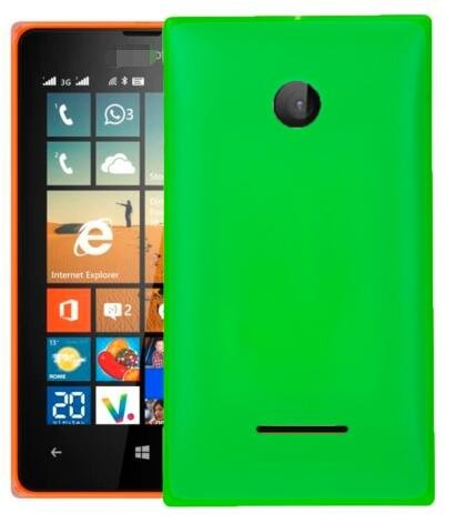 Solid Color Battery Back Cover for Microsoft Lumia 532(Green)