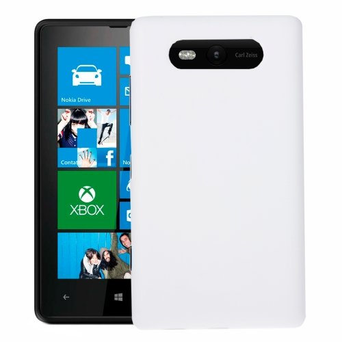Solid Color NFC Battery Back Cover for Nokia Lumia 820(White)