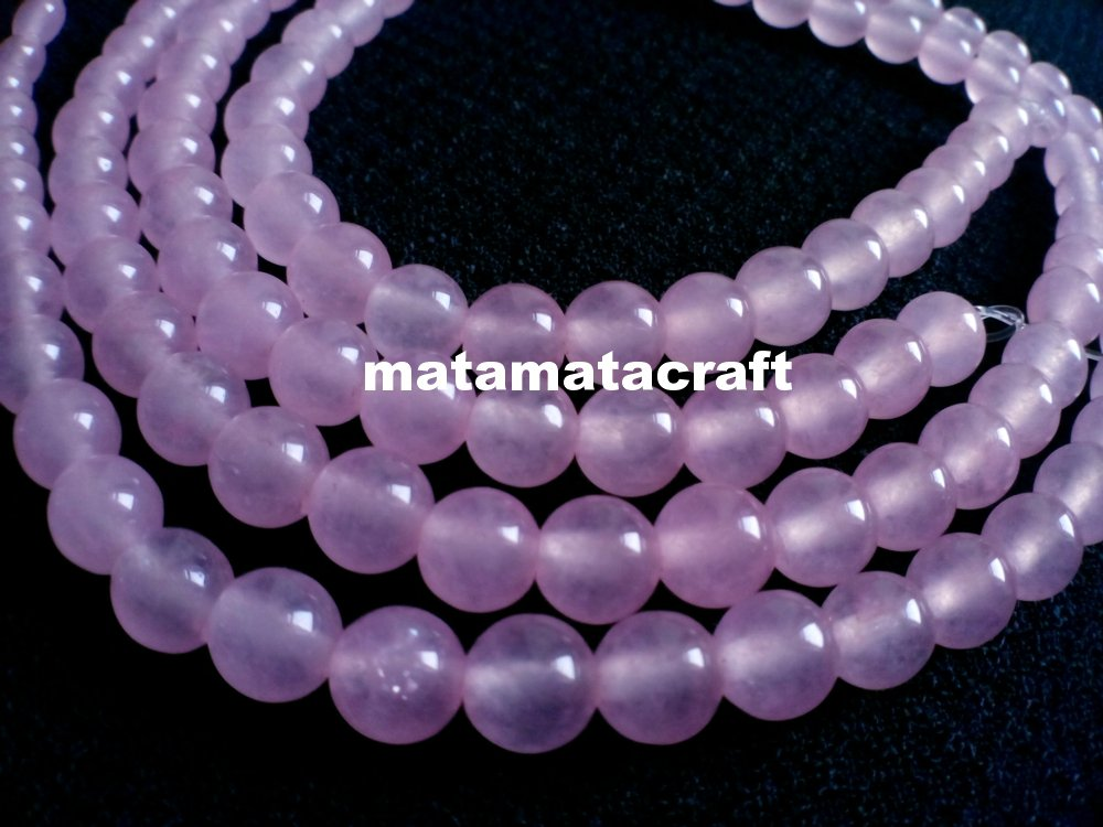 """1 strand 15"""" or 370mm pink crystal beads, 6mm 1/5"""" for jewellery making"""