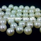 "plastic imitation faux pearls 10mm 2/5"" 120g ivory cream color for jewelry making sewing craft"
