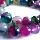 "natural agate beads watermelon green and red colored 10 mm 2/5"" for jewelry making"