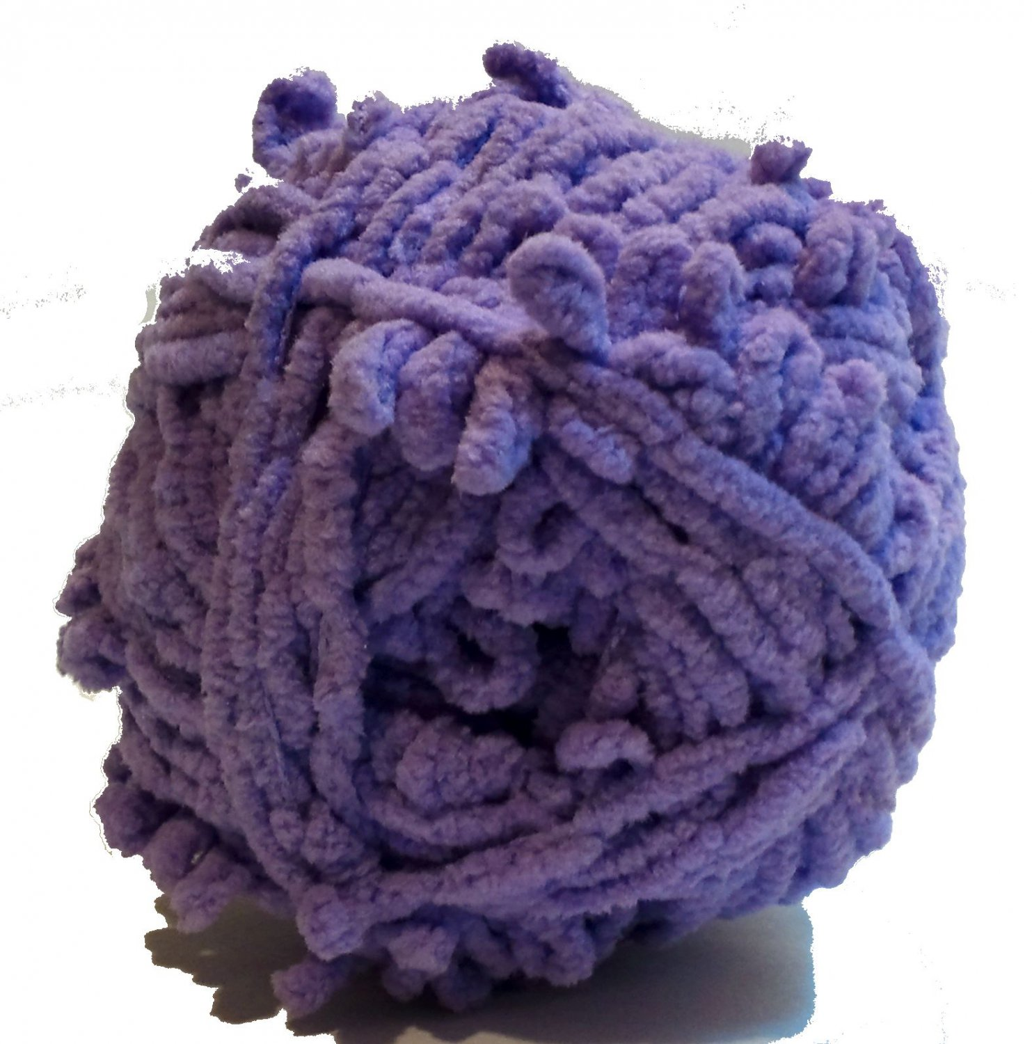Lolli Loopy Chenille Yarn Grape 9531 Red Heart 3.5 ounces 80 yards Super Bulky 6 Lavender