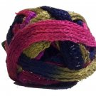 Sashay Yarn 3.5 oz 30y Mambo 1937 Super Bulky 6 Ruffle Scarf Yarn Blue Green Fuchsia Purple