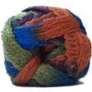 Sashay Yarn 3.5 oz Disco 1950 Super Bulky 6 Ruffle Scarf Yarn Blue Green Orange Rust Sparkly