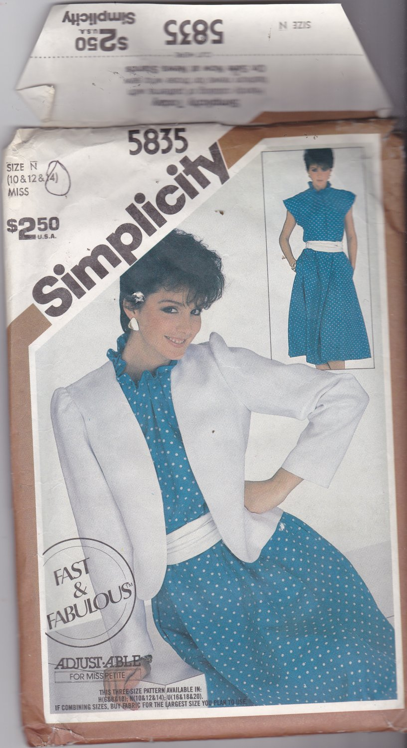 Simplicity 5835 size 14, may be missing pieces