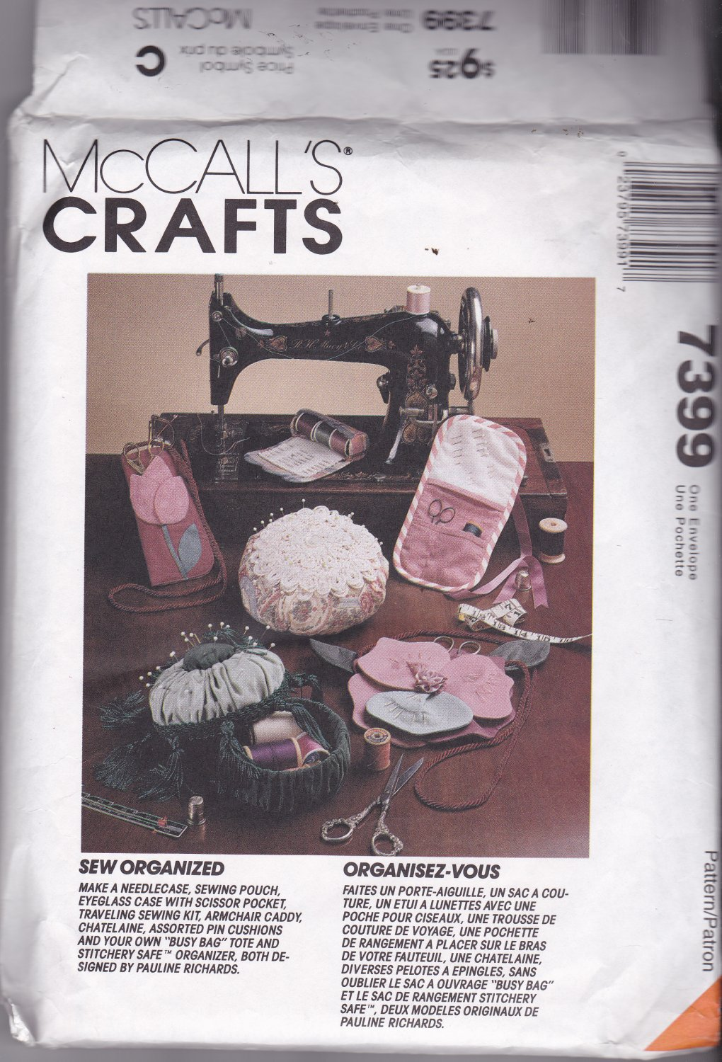 McCall's Crafts 7399 Sewing Organizers Uncut FF